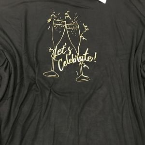 """NEW """"Let's Celebrate"""" Holiday Graphic Tee"""
